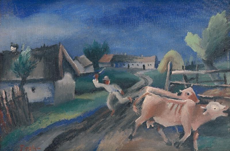 Štefan Prohászka-Tallós - Na dedine