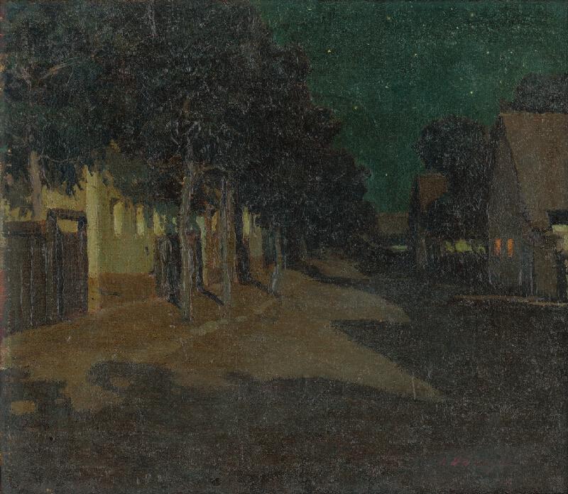 Vincent Bánsághi - Podvečerná dedina