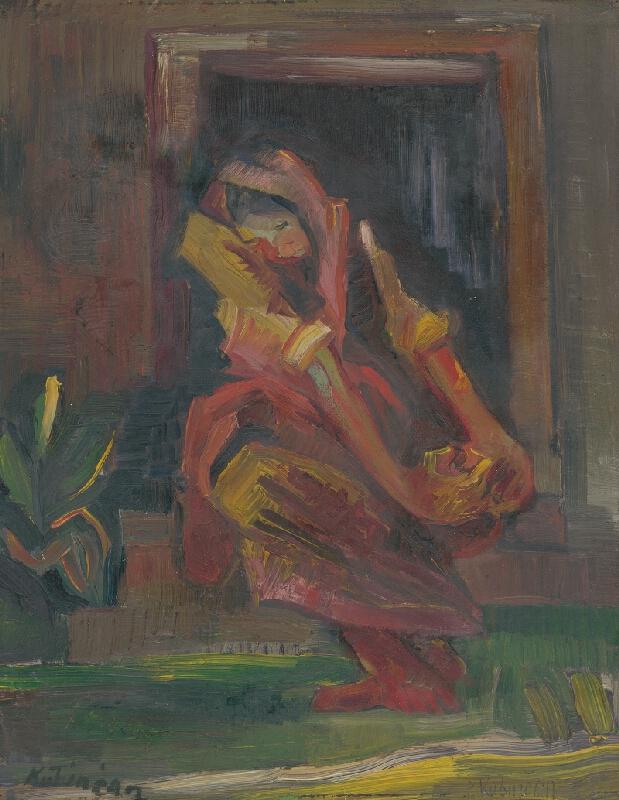 Arnold Peter Weisz-Kubínčan - Sediaca žena
