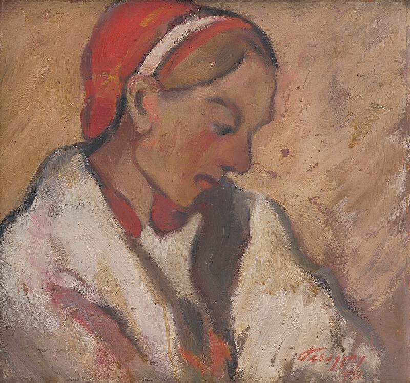 Zolo Palugyay - Dievča v červenom čepci