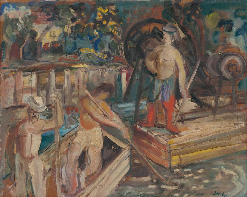 Július Jakoby - Zbieranie piesku