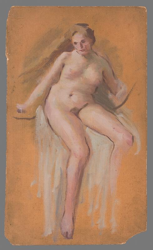Milan Thomka Mitrovský - Štúdia k obrazu Lady Godive