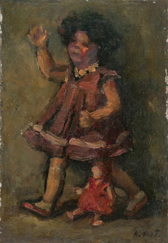 Gustáv Gerö - Dievčatko s bábikou