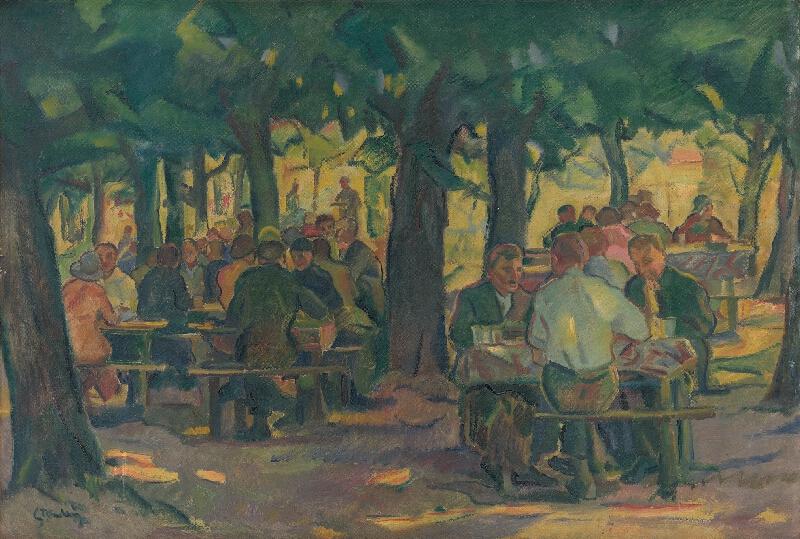 Gustáv Mallý - Odpočinok pod stromami