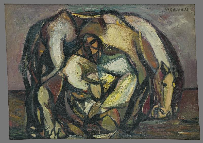 Vincent Hložník - Muž s koňom