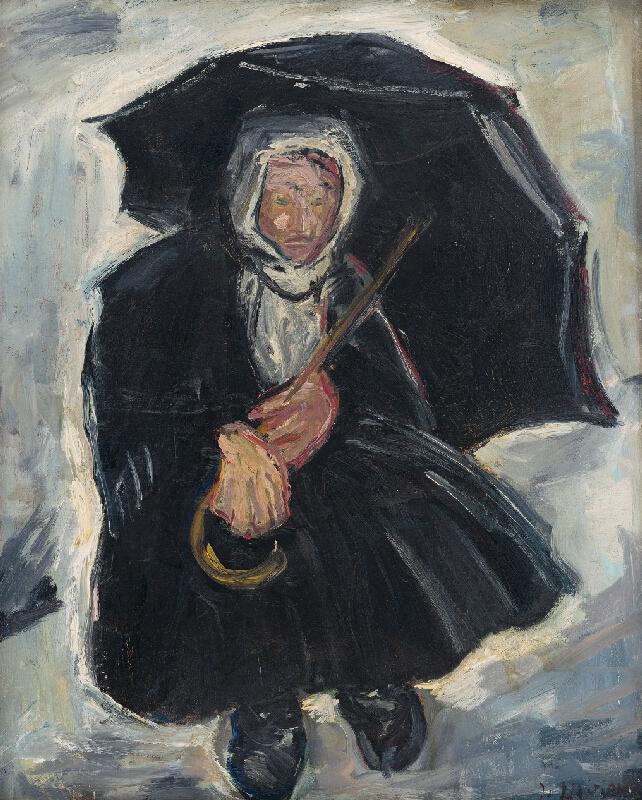 Imrich Weiner-Kráľ - Starena s dáždnikom