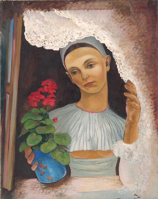 Imrich Weiner-Kráľ - Žena s kvetináčom
