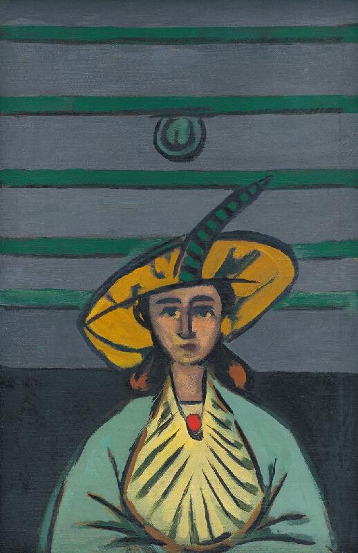Eugen Nevan - Žena v žltom klobúku