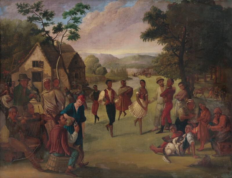 Slovenský maliar z polovice 19. storočia - Cigáni pri zábave