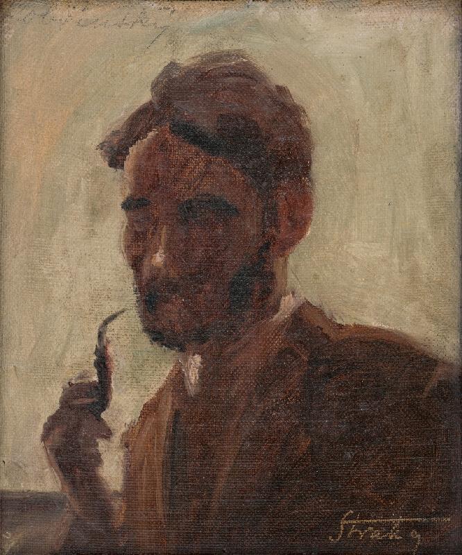 Štefan Straka - Štúdia muža s fajkou