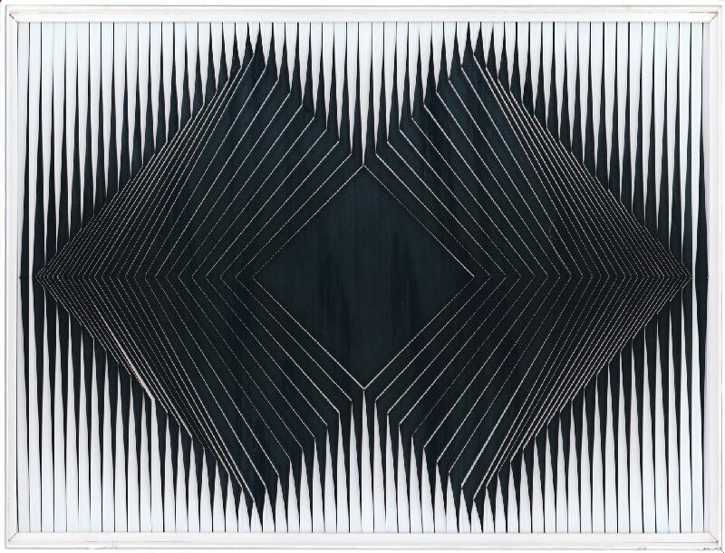 Alberto Biasi – Dynamický reliéf, 1968, Slovenská národná galéria