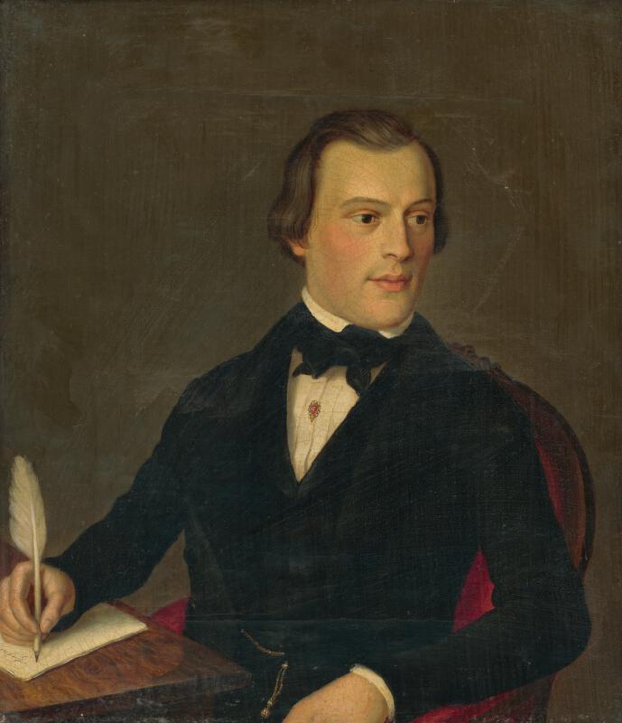 Peter Michal Bohúň, Neznámy autor - Podobizeň píšúceho muža