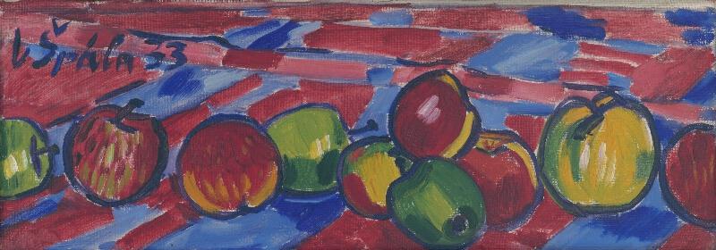 Václav Špála - Zátišie s jablkami