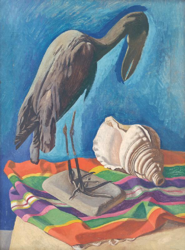 Peter Pálffy - Zátišie s lastúrou a vtákom