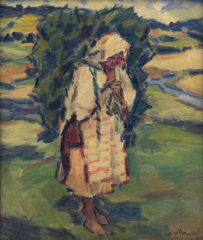 Gustáv Mallý - Žena s batohom