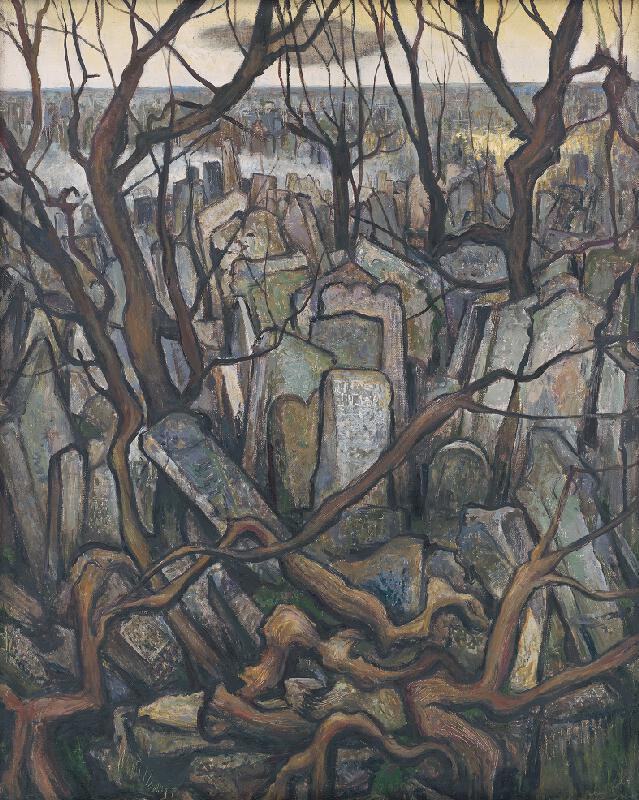 Imrich Weiner-Kráľ - Židovský cintorín v Prahe