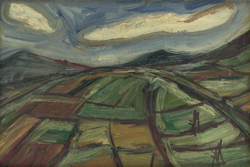 František Studený - Políčka s bielymi mrakmi