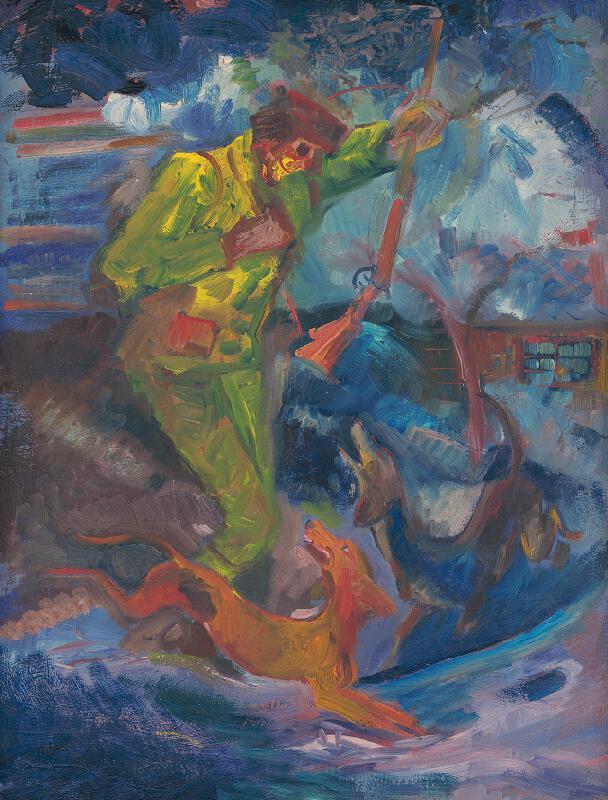 Arnold Peter Weisz-Kubínčan - Poľovník so psami