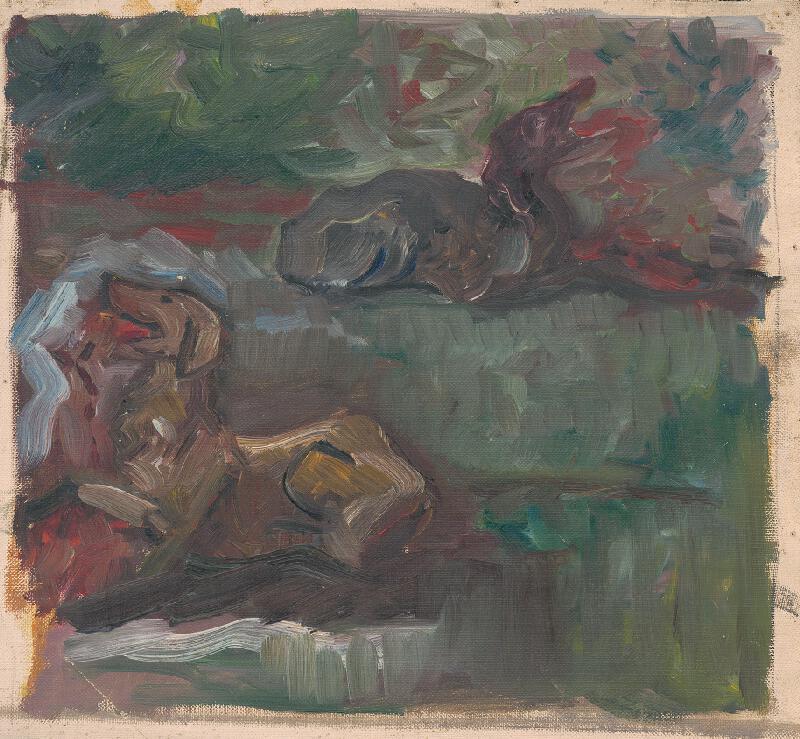 Arnold Peter Weisz-Kubínčan - Dvaja ležiaci psi