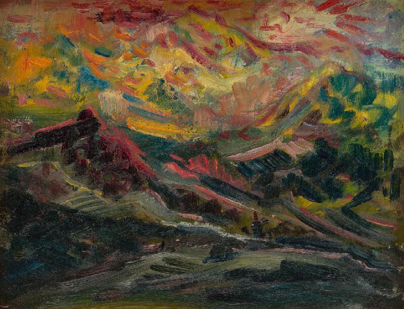Arnold Peter Weisz-Kubínčan - Západ slnka na horách