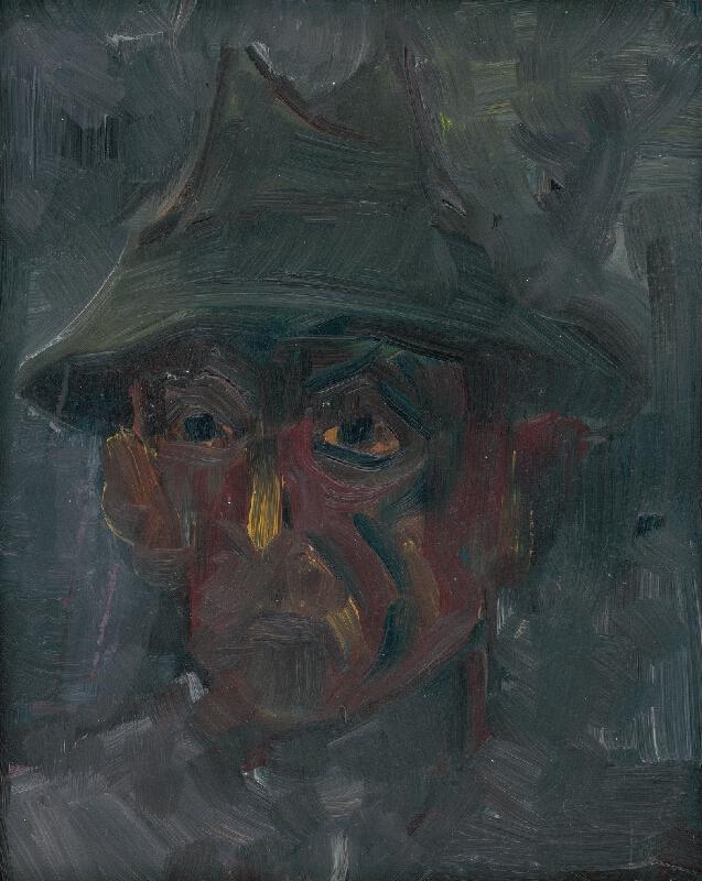 Arnold Peter Weisz-Kubínčan - Hlava muža v klobúku