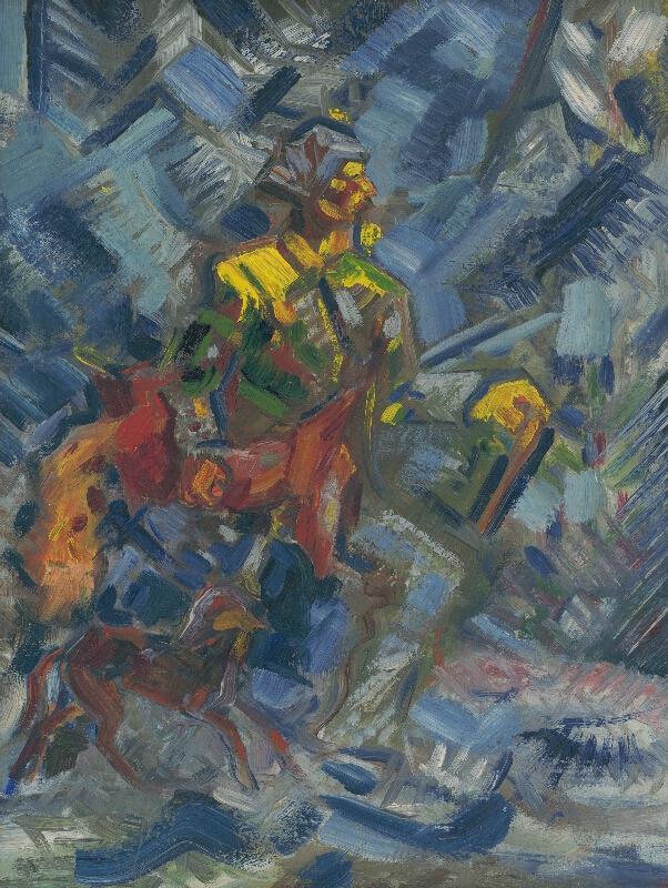 Arnold Peter Weisz-Kubínčan - Poľovník v modrom lese