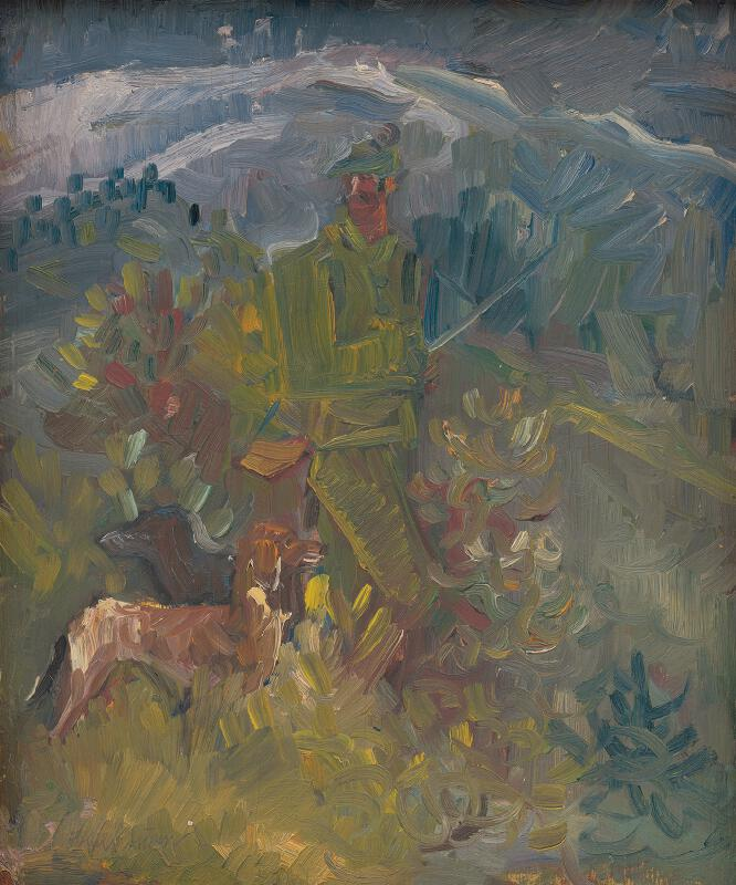 Arnold Peter Weisz-Kubínčan - Poľovník s dvoma psami
