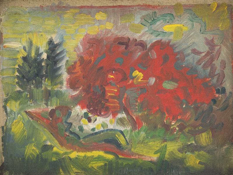 Arnold Peter Weisz-Kubínčan - Ležiaci akt v záhrade