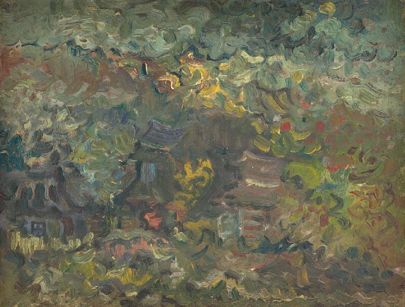 Arnold Peter Weisz-Kubínčan - Domky pod lesom