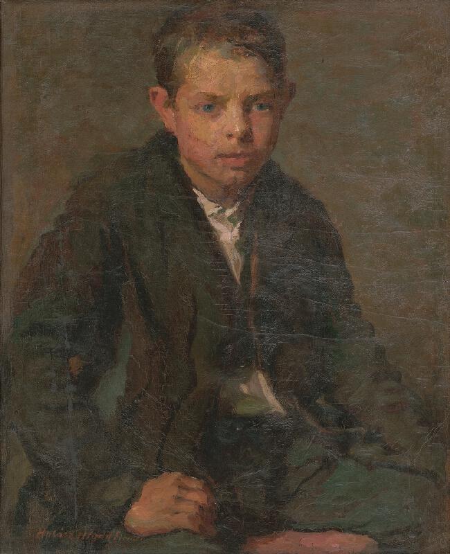 Elemír Halász-Hradil - Podobizeň robotníckeho chlapca