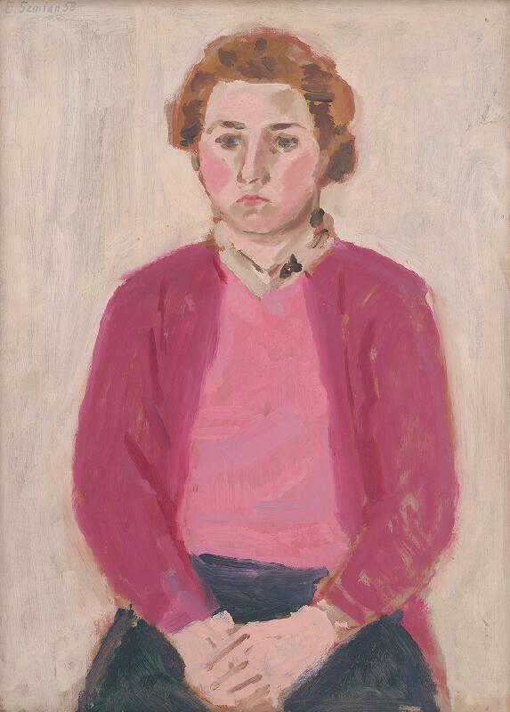 Ervín Semian - Dievča v ružovom svetri