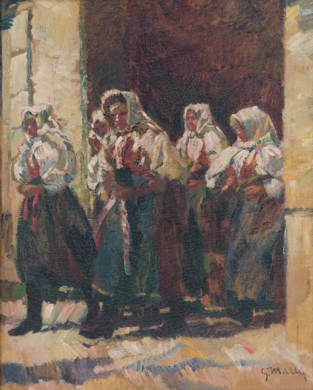 Gustáv Mallý - Z kostola