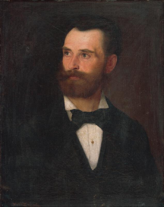 Július Štetka - Podobizeň muža s hnedou bradou