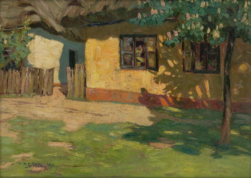 Martin Benka - Motív z moravskej dediny