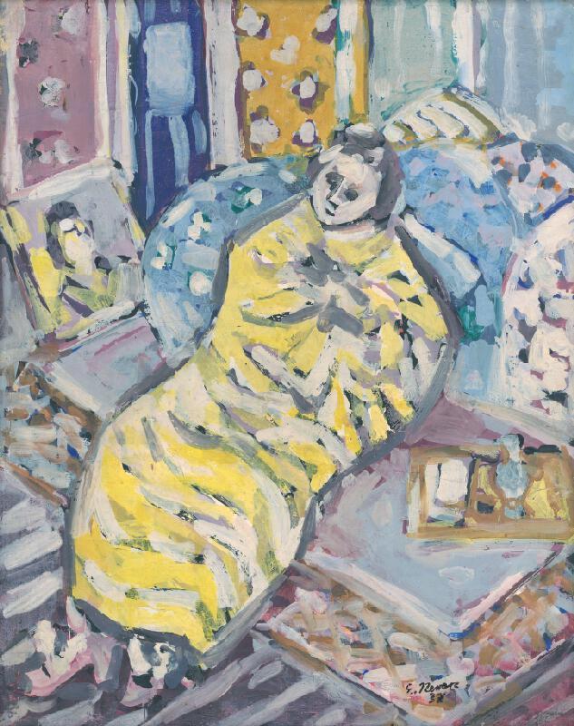 Eugen Nevan - Ležiaca žena po kúpeli