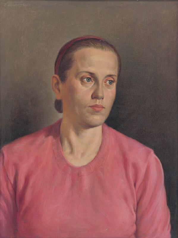 Dezider Milly - Portrét manželky