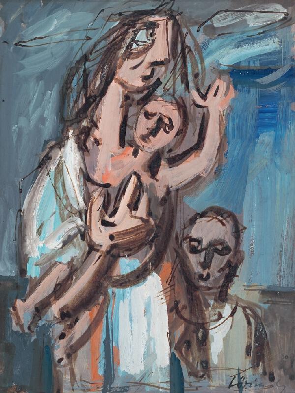 Július Lörincz - Matka s dieťaťom bez domova