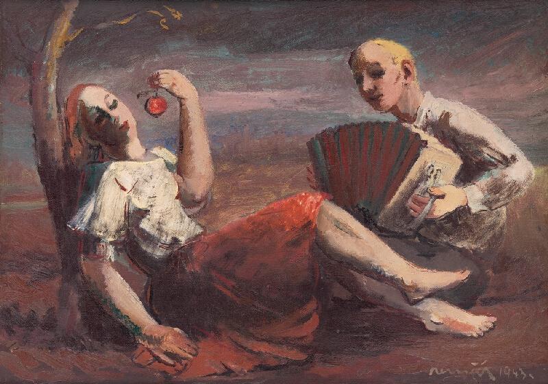 Július Nemčík - Žánrový obraz