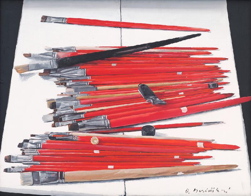 Oľga Bartošíková – Množstvo štetcov, 1988, Slovenská národná galéria
