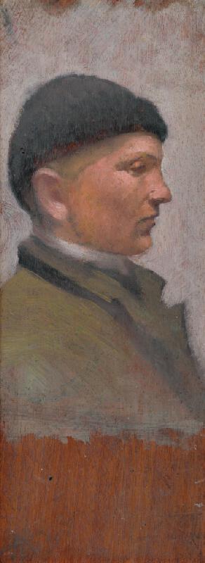 Ladislav Mednyánszky - Muž z profilu