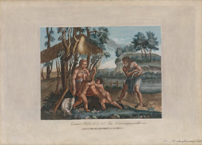 Alexander Belopotocký - Biblický výjav II. (Eva s Kainom a Ábelom) podľa Rafaela