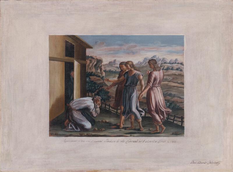 Alexander Belopotocký - Biblický výjav III. (Anjeli sa zjavujú Abrahámovi) podľa Rafaela