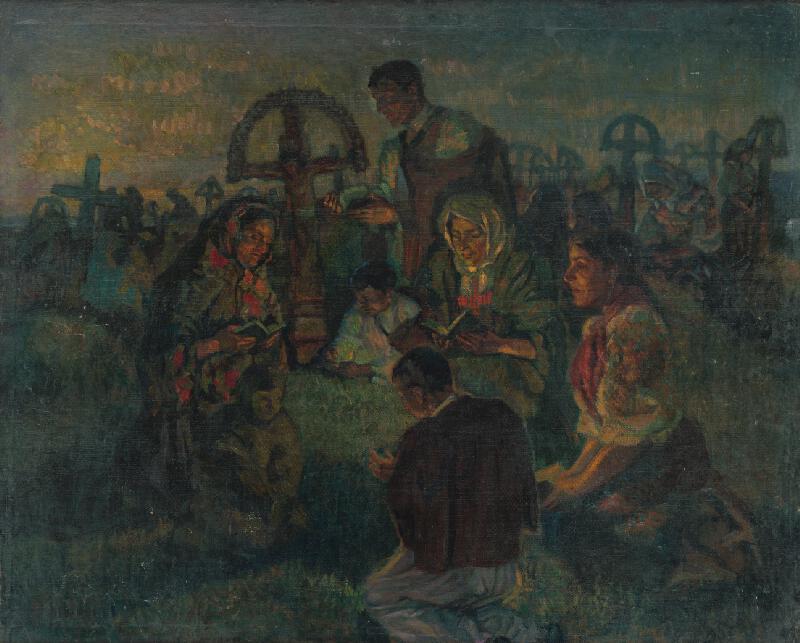 Otto Ottmar - Slávnosť dušičiek na cintoríne