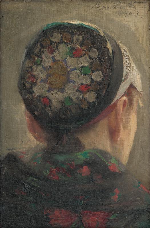Maximilián Kurth - Štúdia hlavy ženy v čepci