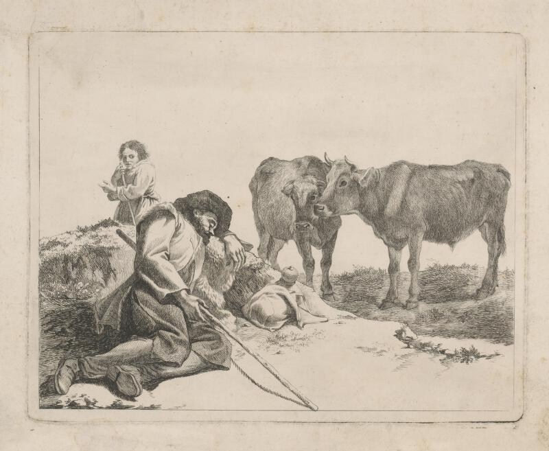 Stredoeurópsky grafik z prelomu 18. - 19. storočia - Pastierska scéna