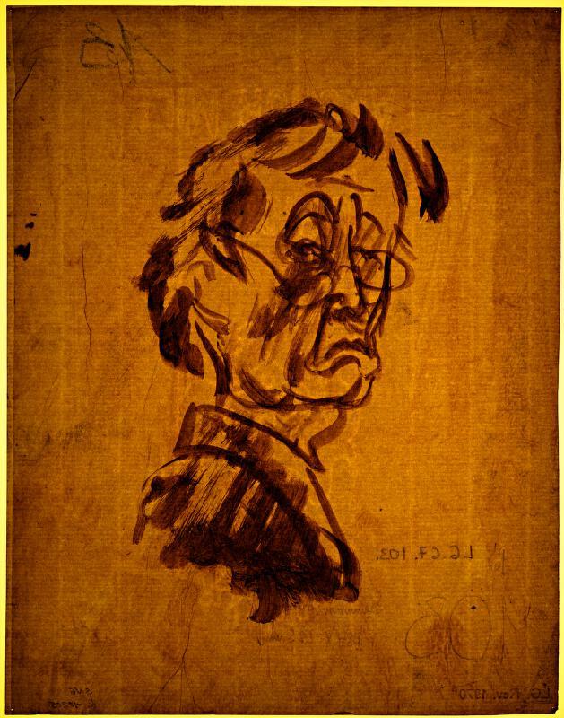 Bertalan Pór - Autoportrét