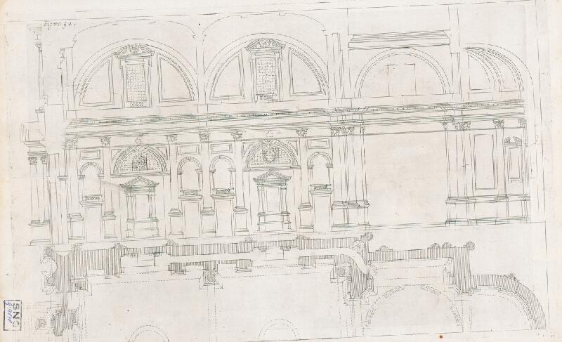 Andrea Pozzo, Giacomo Böemo Komarek - Fig.93. - Geometrická fasáda spomenutého kostola