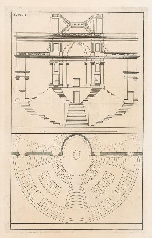 Andrea Pozzo, Giacomo Böemo Komarek - Fig.112. - Projekt schodov