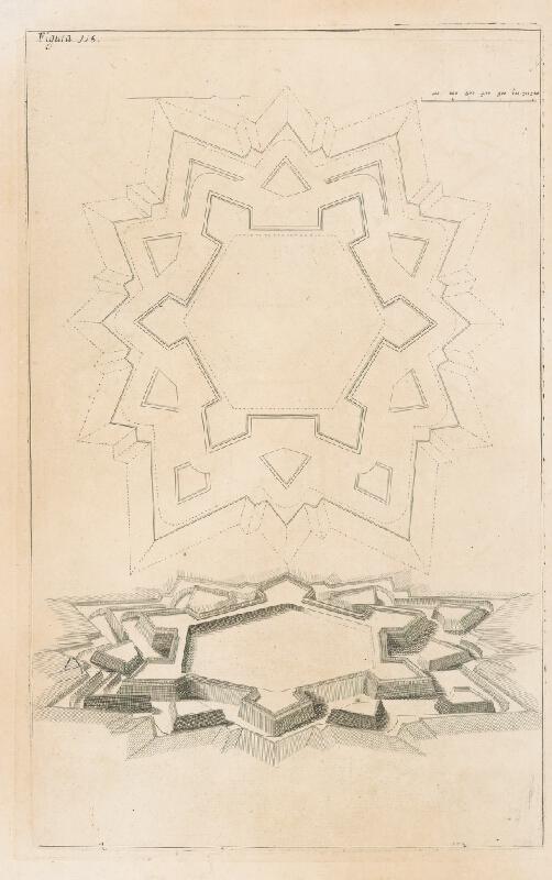 Andrea Pozzo, Giacomo Böemo Komarek - Fig.116. - Pevnosti šesťboké