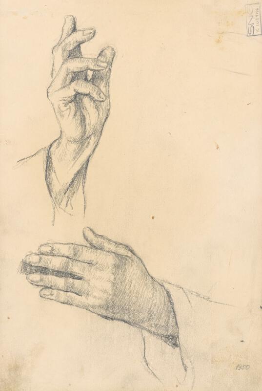 Jaroslav Augusta – Tri náčrty ruky